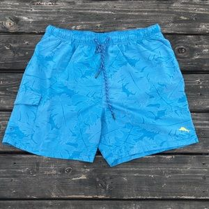 Blue Tommy Bahama Swim Trunk Shorts